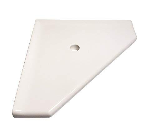 Questech - Estante esquinero para ducha (25,4 cm), 8 pulgadas, Blanco (Polished White)