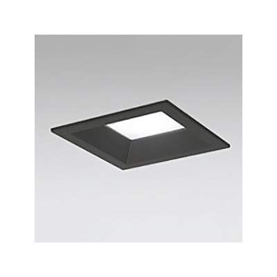 LEDダウンライト SB形 角型 埋込穴□125 白熱灯100W形 拡散配光 連続調光 本体色:ブラック 電球色形 2700K B07RYPN634