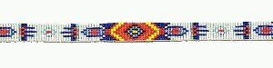 KX Brands Multicolor Beaded Buckled Hat Band