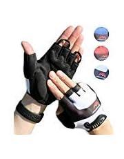 Halbfinger Radsport Handschuhe, Fahrradhandschuhe für Herren und Damen, für Rennrad, Mountainbike, Krafttraining, Fitness, Crossfit, Bergsteigen, Sport