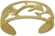10 Karat Yellow Gold Dolphin Toe Ring by Elite Jewels