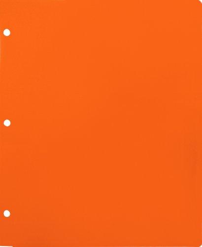 Lion 2-Pocket Plastic Folder for Binder, Mandarin Orange, Pack of 4 (91000-MO-4P) ()