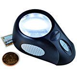 - (1) Lighthouse Bullauge Illuminated 5x Desk Magnifier for Gold Silver Coins Stamps Also a Great Reading Aid