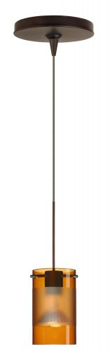 Besa Lighting 1XP-6524EG-BR Scope Pendant with Armagnac/Frost Glass, Bronze Finish