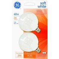 GE2PK40W WHT Globe Bulb