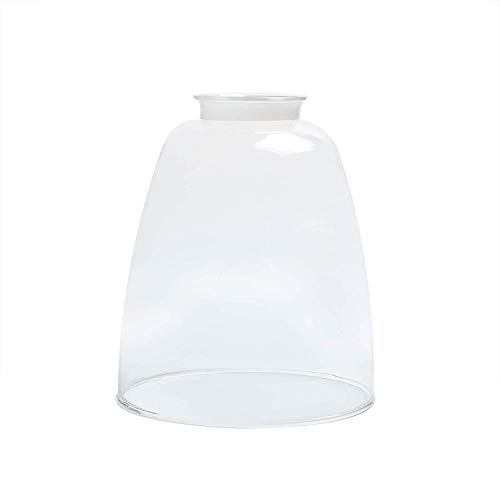 The Yodeling Goat Replacement Glass Shades - Oval Cone Clear Glass Light Globes for Light Fixtures