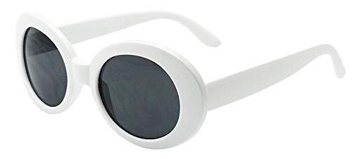 MOD Style Oval Sunglasses (White)
