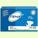 SCA Tena Flex Belted Adult Disposable Incontinence Briefs - 28-42 Inch Size 12 Heavy / Moderate Absorbency
