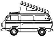 Just Kampers Westfalia Dach Canvas 3 Fenster Grau kompatibel mit VW T25 T3 Transporter 86-92