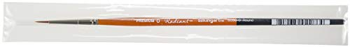 KINGART 6000-0 Premium Artist Brushes Radiant AP TAKLON Round, 0, Black/Silver/Orange