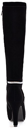 Laruise Women's High Heel Boots Black KMD9ZklJw