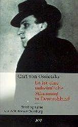 Carl von Ossietzky. Es ist eine unheimliche Stimmung in Deutschland: Ein biographischer Bericht