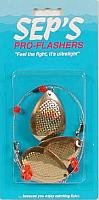 Sep's Pro Fishing Flasher, Gold/Red, Large