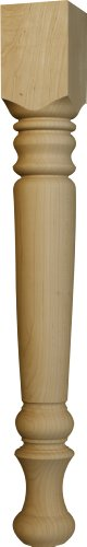 Husky Farm Dining Table Leg in Knotty Pine - Dimensions: 29 x 3 1/2 inches (Turned Table Leg)