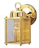 - Westinghouse Lighting 6693600 One-Light Exterior Wall Lantern, Polished Brass Finish on Steel with Clear Glass Panels