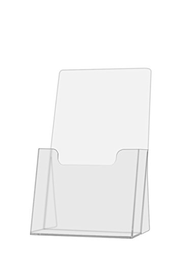 10 Pack. Clear Acrylic Brochure Holder - Counter Top Brochure Display.