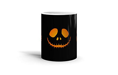 Ceramic Coffee Mug Animated Cartoon Cup Minimal Jackolantern Vector Design With Glowing Gradi Cartoons Caricature Drinkware Super White Mugs Family Gift Cups 11oz 325ml
