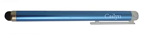 Personalized blue touch screen pencil (stylus) with text: Cailyn (first name/surname/nickname)