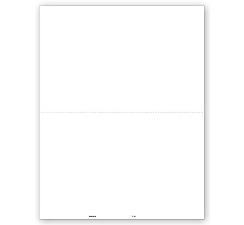 Tax 2-Up Blank Laser Form - Complete for W-2, 1099-MISC and 1099-R forms, Pack of 100 ~2018~