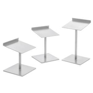 Taupe Metallic Shoe Stand, Set of 3 by Retail Resource