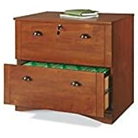Realspace Dawson 2-Drawer Lateral File Cabinet, Brushed Maple