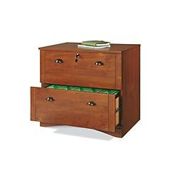 Realspace Dawson 2-Drawer Lateral File Cabinet, Brushed Maple by Realspace