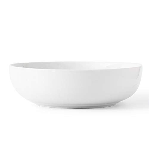 3.2 Quart Porcelain Serving Bowl Set Salad Bowl Set 2 Pack, Large Ceramic Bowl Set White