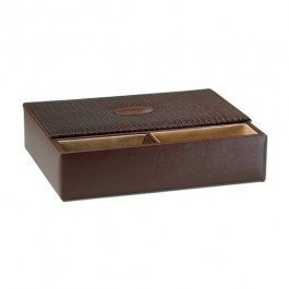 Mens Valet Jewelry Box - Brown (Brown) (2.75''H x 11.75''W x 9.25''D)