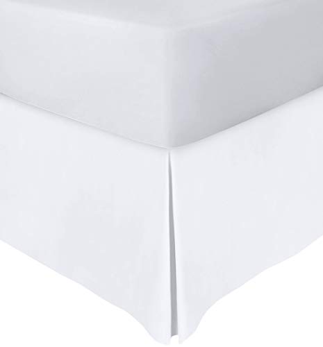 Utopia Bedding Queen Bed Skirt,16 Inch Drop (White)