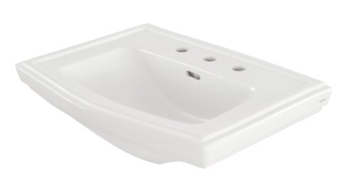White Complete Pedestal Lavatory (TOTO Lt780.8#01 Clayton 8