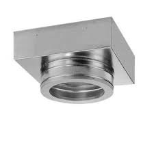 284607 7″ Square Support Box (unpainted) Dura-Tech Chimney
