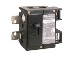 1- Cutler Hammer BW2150 2 pole 1 Phase Circuit Breaker 150 Amps Bolt-on BW Series, type BW bolt-on by CUTLER HAMMER
