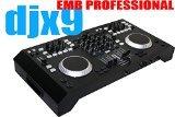 EMB Professional DJX9 4 Channels Controller DJ MIXER 2 Jog Wheels Scratching+Controlling