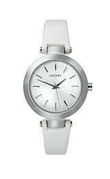DKNY Silver-Tone Round Leather Strap Women's watch #NY8834 by DKNY