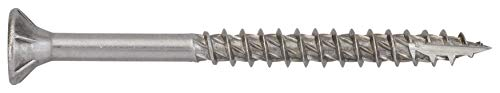 Wood Screws Nails, Screws & Fasteners Formula F Wood Cladding Screw Partially Threaded Stainless Steel A2 4 x 40 with Free Bit Pack of 250