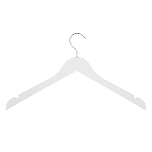 Honey-Can-Do HNG-06280 Contoured Wooden Suit/Dress Hanger, 4-Pack, White by Honey-Can-Do