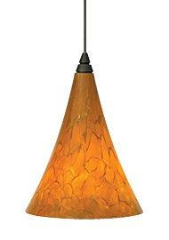 Mini Melrose 1 Light FreeJack Pendant Finish: Antique Bronze, Color: Amber / Tahoe Pine Amber, Bulb Type: 1 x 6W - Light 1 Pendant Melrose