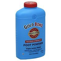 Bond Powder Foot Gold (Gold Bond Triple Action Medicated Foot Powder, 10 oz - 2pc)