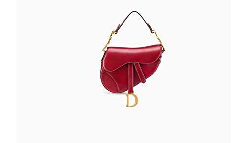 Dior Women Handbags (Dior Saddle Bags Red Calf Leather Pocket Handbags)