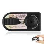 Q5 Portable HD 720P Mini Thumb DV (Black)