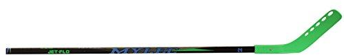 Mylec Jet-Flo Hockey Stick, Neon Green, Left, (Tapered Hockey Shaft)
