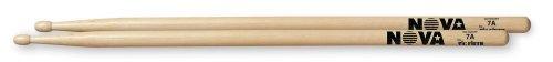 (Nova 1 Pair Hickory Drumsticks Nylon 7A)