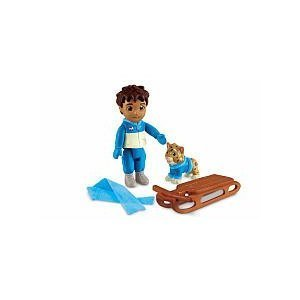 - Fisher-Price Dora the Explorer Dollhouse Figures - Diego with Cat and Sled