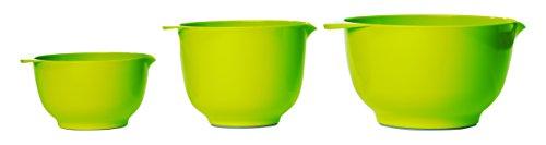 Rosti Mepal Set of 3 Margrethe Melamine Mixing Nesting Bowls (Lime Green) (Green Melamine Bowl)
