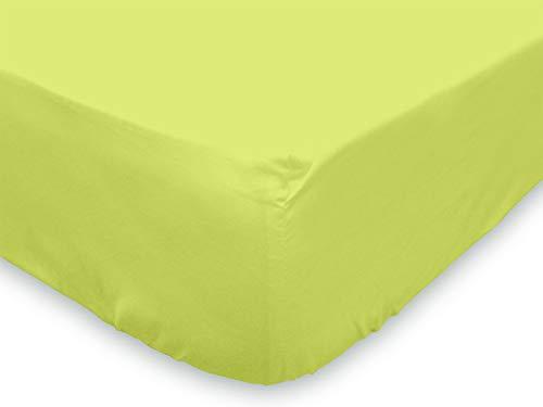 Soleil d'ocre Lenzuolo con angoli 140 x 190 cm in cotone tinta unita verde anice Soleil d' ocre 613821