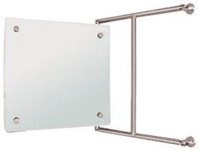 Laurence 15 x 15 Brushed Nickel Frameless Pivot Mirror C.R