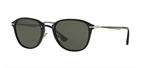 Persol PO3165S Sunglasses 95/58-52 - Black Frame, Polar Green ()