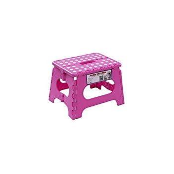 Amazon Com Small Pink 8 6 Inch Folding Step Stool Kids