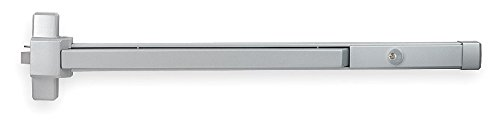 STANLEY Commercial Hardware QED31236689SCKD Grade 1 Heavy Duty 3 Rim Cylinder Dog Exit Device Painted Aluminum 2 2 Stanley Security Solution QED312-689