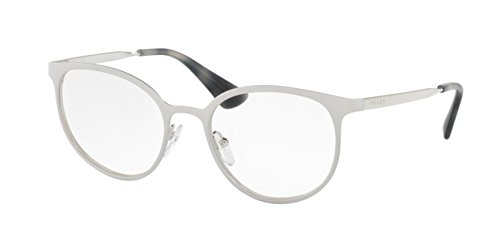 Prada Women's PR 53TV Eyeglasses Matte White/Silver ()